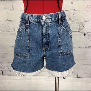 Levi's High Waisted Cut Off Denim Shorts      1770